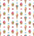 Seamless Pattern with Different Colorful Ice vector image