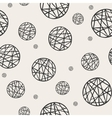 Seamless pattern with sketch circles vector image vector image