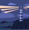 seascape stones rocks lighthous vector image
