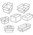 set of box vector image vector image