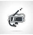 Snorkeling accessory black icon vector image vector image
