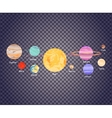 Solar System on Transparecy vector image vector image