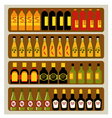 Store shelves vector image vector image