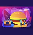 street food concept vector image
