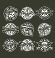 vintage monochrome military weapons round emblems vector image vector image
