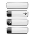 white buttons with black tags menu interface vector image vector image