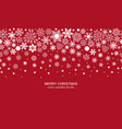 white seamless snowflake header red background vector image vector image