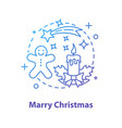 winter holidays concept icon vector image