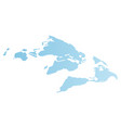 world flat blue map image continents earth vector image vector image