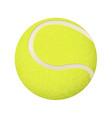 yellow tennis ball 3d vector image