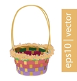 Color Easter wicker basket handmade vector image