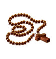 rosary with cross isolated vector image