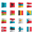 flags - europe part 1 vector image