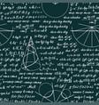 mathematical seamless pattern vector image