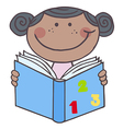 African American Girl Reading A Book vector image vector image
