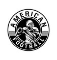 american football sign logo black and white