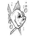 aquarium fish silhouette vector image