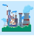 Architectural building factory chimney smoke vector image