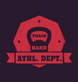 athletic department t-shirt print with kettlebell vector image vector image
