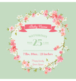 baby shower or arrival cards - with spring blossom