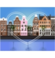 Background with blur Amsterdam vector image