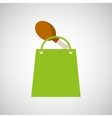 bag shopping chicken thigh icon vector image vector image