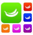 banana set collection vector image vector image