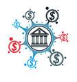 banking and finance conceptual logo unique symbol vector image vector image