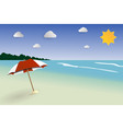 beach papercut landscape seascape for summer vector image