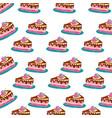 birthday cake background vector image