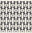 black and white seamless pattern curved geometric vector image vector image