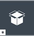 box glyph icon vector image