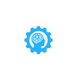 brain gear logo icon design vector image