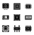 braze icons set simple style vector image vector image