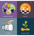 business banners partners strategy vector image