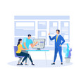 business coach demonstrating learning information vector image vector image