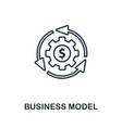 business model outline icon thin style design vector image vector image