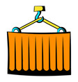 cargo container icon cartoon vector image vector image