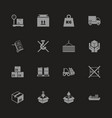 cargo - flat icons vector image vector image