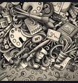 cartoon doodles art card detailed vector image vector image