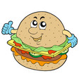 cartoon hamburger vector image