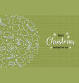 christmas new year holiday line icon greeting card vector image vector image