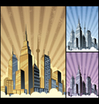Cityscape vertical vector | Price: 3 Credits (USD $3)