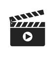 clapper board glyph icon vector image vector image