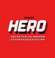 comics super hero style font design alphabet vector image vector image