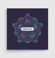 crystal object with dots molecular grid 3d vector image vector image