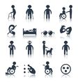 Disabled icons set black vector image vector image