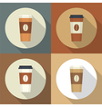 Disposable coffee cup vector image