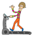 Excercising with treadmill vector image vector image