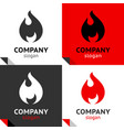 fire flames new set four variants for your logo vector image vector image